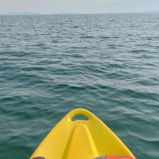 We rented three single kayaks for Flathead Lake, but their kayaks had been stolen so we ended up with a single and a double. I naturally took this as a sign that I should just be chauffeured around the lake. Chad was...not surprised. 😅😎